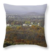 Misty Fall Pano Of The Shenandoah Valley Throw Pillow