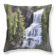 Misty Falls Throw Pillow by Jo-Anne Gazo-McKim