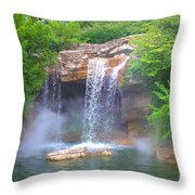 Misty Falls Throw Pillow