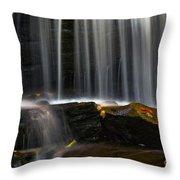 Misty Falls Throw Pillow