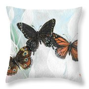 Misty Flight Throw Pillow