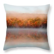 Misty Foilage Throw Pillow