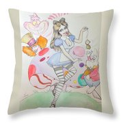 Misty Kay In Wonderland Throw Pillow