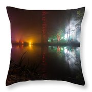 Misty Light Reflections Throw Pillow