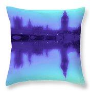 Misty London Reflection Throw Pillow