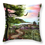 Misty Meadow Throw Pillow