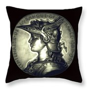 Misty Midnight Black Marianne Throw Pillow
