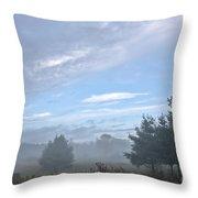Misty Monday Throw Pillow