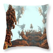 Misty Morn On Planet X Throw Pillow