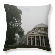 Misty Morning At Monticello Throw Pillow