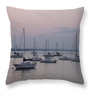 Misty Morning At The Bay Throw Pillow