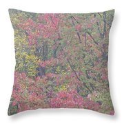 Misty Morning Foliage Throw Pillow
