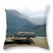 Misty Morning Hanalei Throw Pillow