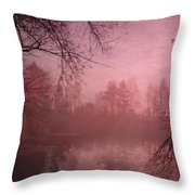Misty Morning Light Throw Pillow
