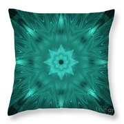 Misty Morning Star Bloom Throw Pillow