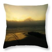 Misty Oregon Coast Throw Pillow