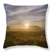 Misty Sunrise At Valley Forge Throw Pillow