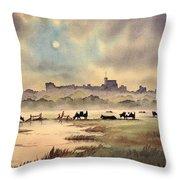 Misty Sunrise - Windsor Meadows Throw Pillow