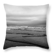 Misty Tide Throw Pillow