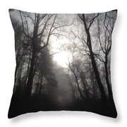 Misty Trail Throw Pillow by Stephanie  Varner