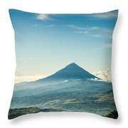 Misty Volcano Throw Pillow