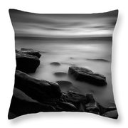 Misty Water Black And White Throw Pillow