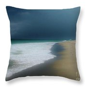 Misty Water Color Blue Too Throw Pillow