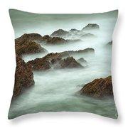 Misty Waves Throw Pillow