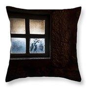 Misty Window Throw Pillow