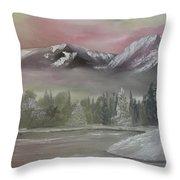 Misty Winter Throw Pillow