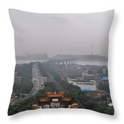 Misty Wuhan Throw Pillow
