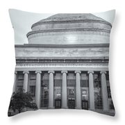 Mit Building 10 And Great Dome II Throw Pillow