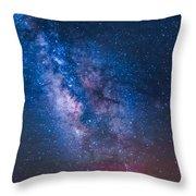 Mitchell Butte Milky Way Throw Pillow