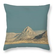 Mitre Peak Catching Some Rays Throw Pillow