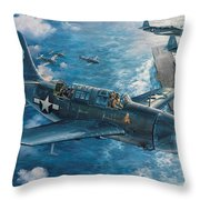 Mitscher's Hunt For The Rising Sun Throw Pillow by Randy Green
