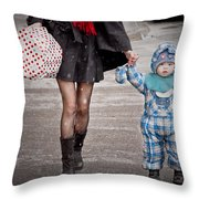 Mittens Attached Throw Pillow
