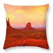 Mittens Sunset Throw Pillow