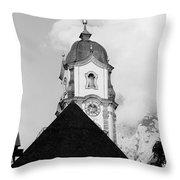 Mittenwald Kirchturm Throw Pillow