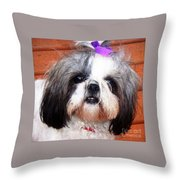 Mitzie - Shih Tzu Throw Pillow