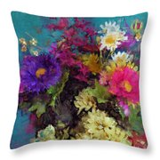 Mixed Bouquet Throw Pillow