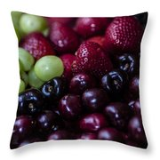 Mixed Fruit Throw Pillow