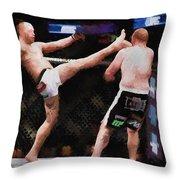 Mixed Martial Arts - A Kick To The Head Throw Pillow