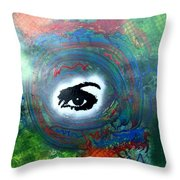 Mixed Media Abstract Post Modern Art By Alfredo Garcia Eye See You Throw Pillow