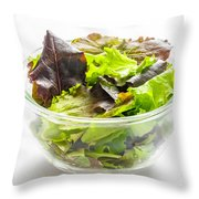 Mixed Salad In A Cup Throw Pillow