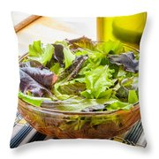 Mixed Salad With Condiments Throw Pillow