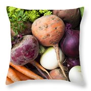 Mixed Veg Throw Pillow