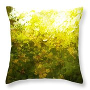 Painted Garden  Throw Pillow