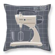 Mixmaster - Ivory Throw Pillow