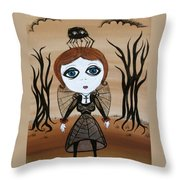 Miz Goth Throw Pillow