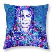 Mj Floral Version 2 Throw Pillow